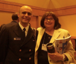 With my colleague, Ginny Lipke, during the EIS conference. I was a Lieutenant Commander in the USPHS.