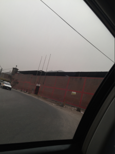 The Peruvian prison, as photographed from the car before we went inside