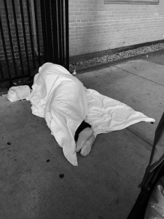 Photos I took this morning of sleeping people on the streets of Boston