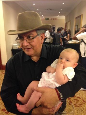 Alberto Colorado, a TB activist, and his young friend